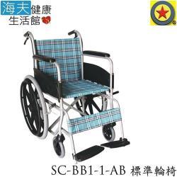 輪昇 特製推車 (未滅菌)【海夫健康生活館】輪昇 通用型 輪椅(SC-BB1-1-AB)