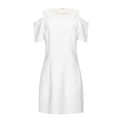 HUNKYDORY ミニワンピース&ドレス ホワイト S ポリエステル 64% / レーヨン 27% / コットン 6% / ポリウレタン 3% ミ
