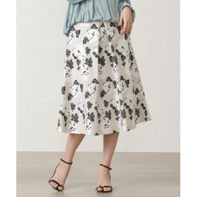EPOCA THE SHOP / リネンミックスフラワージャカードスカート WOMEN スカート > スカート