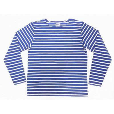 Pherrow's[フェローズ] バスクシャツ ロンT 20S-Cedric インディゴ ボーダー ロングスリーブTシャツ (インディゴ×ホワイト)