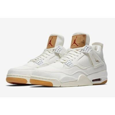 Levi's x Nike Jordan 4 Retro Levi's White (WHITE/WHITE/WHITE) ジョーダン リーバイス