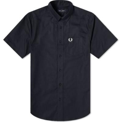 フレッドペリー Fred Perry Authentic メンズ 半袖シャツ ワイシャツ トップス Short Sleeve Oxford Shirt Navy