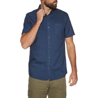 アニマル Animal メンズ 半袖シャツ トップス smokeys short sleeve shirt Indigo Blue