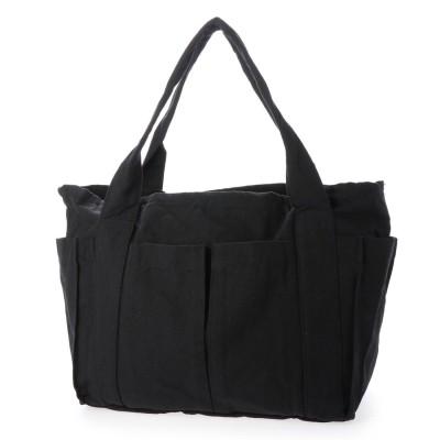スタイルブロック STYLEBLOCK ポケット付きキャンバストートバッグ (ブラック)