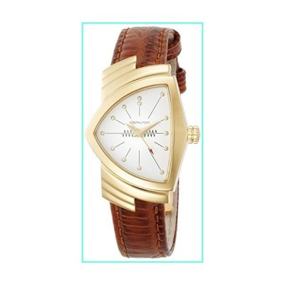 H24101511 Hamilton Ventura Womens Watch Rose Gold PVD Case White Dial Brown Leather NEW並行輸入品