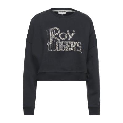 ロイ ロジャース ROŸ ROGER'S スウェットシャツ ブラック M コットン 100% スウェットシャツ