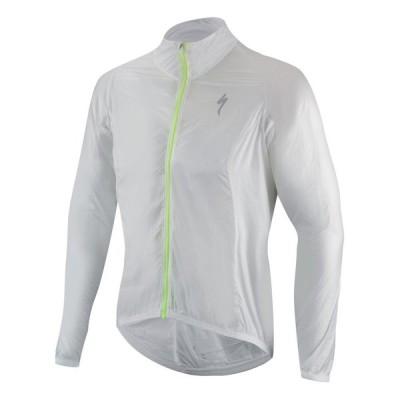 スペシャライズド(Specialized) メンズ サイクルジャケット Deflect Comp Wind Jacket (White) (長袖 防風・撥水 パッカブル 秋・冬用)