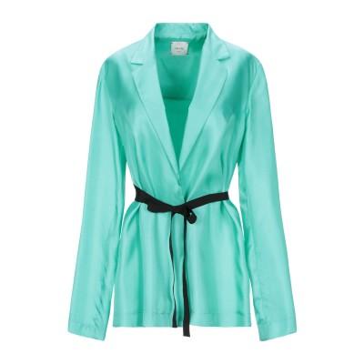 アリジ ALYSI テーラードジャケット ライトグリーン 44 シルク 100% テーラードジャケット