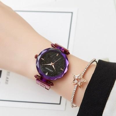 腕時計 クロノグラフ レディース 防水 ABORNI腕時計  機械式 自動巻上げ式 うでどけい ブランド