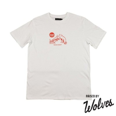 【RAISED BY WOLVES/レイズドバイウルブス】HOWLING FOREVER T-SHIRT Tシャツ / WHITE JERSEY