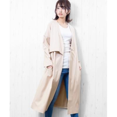 mili an deni / アシメヨークノーカラーコート WOMEN ジャケット/アウター > ノーカラージャケット