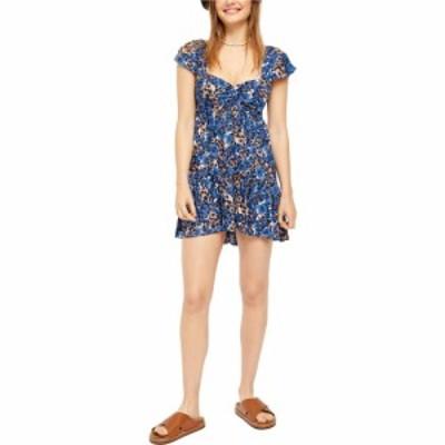フリーピープル Free People レディース ワンピース ミニ丈 ワンピース・ドレス Pattern Play Mini Dress Blue