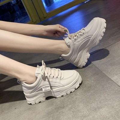 スニーカー ホワイトカラー シューズ 靴 厚底 歩きやすい 疲れにくい  レディース ファッション かわいい カジュアル スポーティー おしゃれ 運動靴 ママファ…