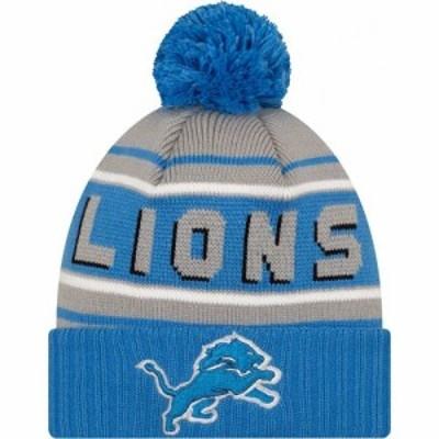 ニューエラ New Era メンズ ニット ビーニー 帽子 47 Detroit Lions Blue Cuffed Cheer Knit Beanie