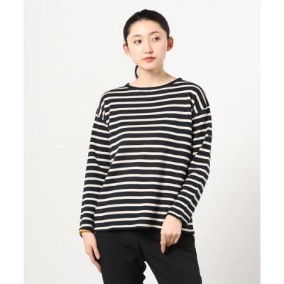 tシャツ Tシャツ MANASTASH/マナスタッシュ リネンコットンボーダーダブルフェイスプルオーバー