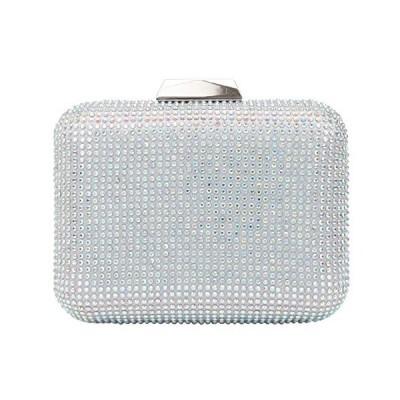 Fawziya Crystal Evening Clutches For Wedding AndBling Crystal Rhinestone Clutches For Women-AB Silver