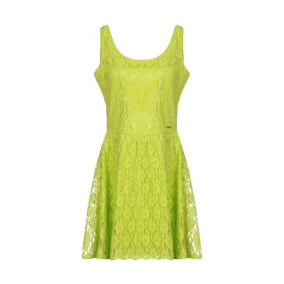 ゲス GUESS ミニワンピース&ドレス ビタミングリーン S コットン 75% / ポリエステル 25% ミニワンピース&ドレス