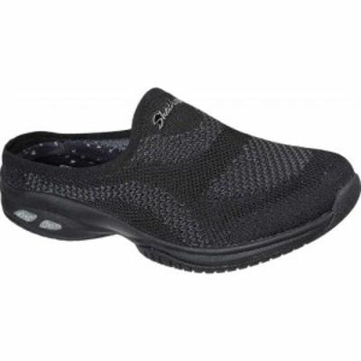 スケッチャーズ Skechers レディース スリッポン・フラット スニーカー シューズ・靴 Commute Time In Knit To Win Slip On Sneaker Blac