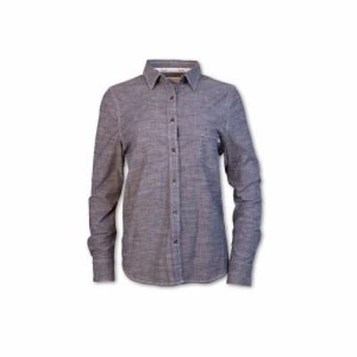 パーネル Purnell レディース ブラウス・シャツ シャンブレーシャツ トップス classic chambray ls shirt Dark Indigo