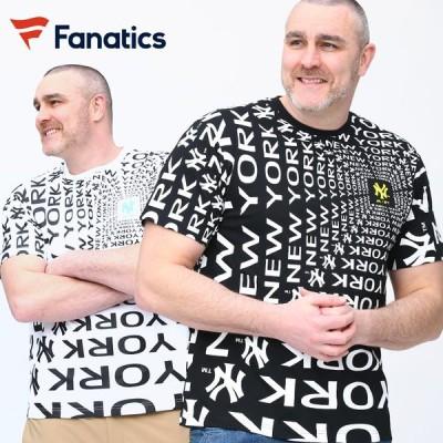半袖 Tシャツ 大きいサイズ メンズ ヤンキース ロゴプリント クルーネック Pattern Print スポーツ コットン Fanatics ファナティクス