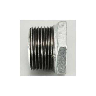 ブッシング 可鍛鋳鉄製管継手(白) リケン GBU 25×15