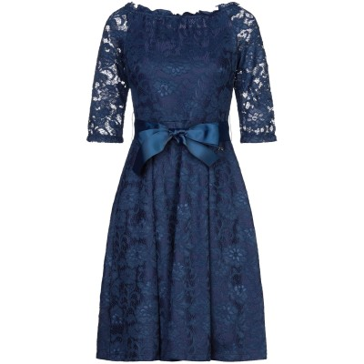 YES ZEE by ESSENZA ミニワンピース&ドレス ダークブルー S ナイロン 90% / ポリウレタン 10% ミニワンピース&ドレス