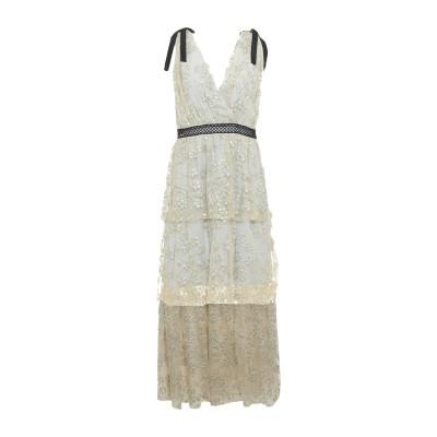 SELF-PORTRAIT ロングワンピース&ドレス グレー 12 ポリエステル 50% / ナイロン 31% / 金属繊維 19% / レーヨン
