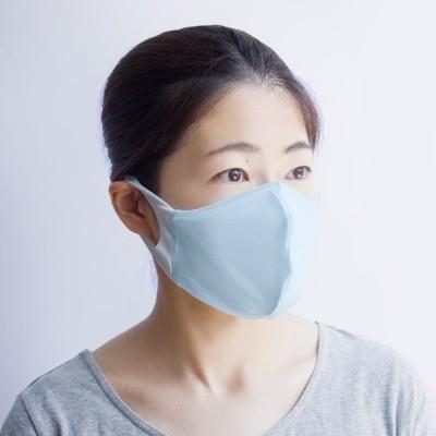 クール布マスク(メッシュ)【日本製】UVカット 紫外線対策 洗える 立体 日焼け防止 ポリエステル ホワイト ブラック ブルー ネイビー グレー