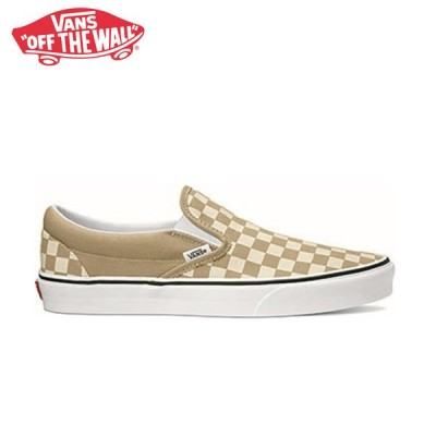 先行予約 バンズ スリッポン スニーカー ベージュ VANS CLASSIC SLIP-ON (CHECKERBOARD) INCENSE/TRUE WHITE vn0a33tb43a