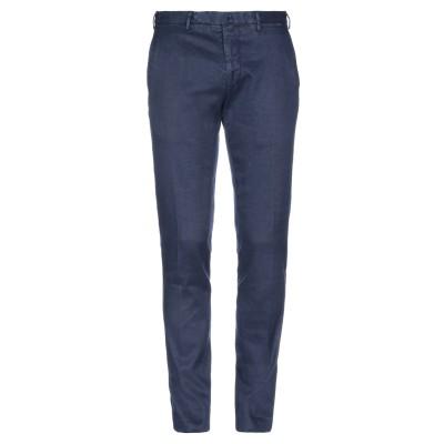 SANTANIELLO パンツ ブルー 48 麻 65% / コットン 34% / ポリウレタン 1% パンツ