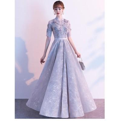 パーティードレス 結婚式ワンピース 可愛い ワンピースドレス Aライン ウエディングドレス ロングドレス 結婚式 二次会 舞台衣装 披露宴 演奏会