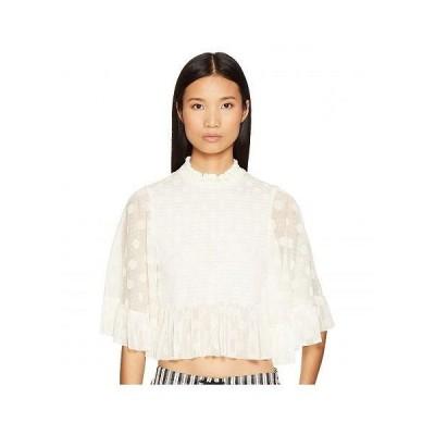 McQ マックキュー レディース 女性用 ファッション ブラウス Smocked Ruffle Top - Ivory