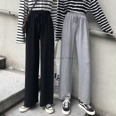 レディースファッション 2020春夏のファッション女性の固体ハイウエスト緩いワイドレッグパンツ女性ストレートパンツカジュアルズボンプラスサイズS-5X