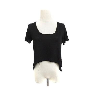 【中古】ルシェルブルー LE CIEL BLEU Tシャツ カットソー 半袖 麻 リネン 38 黒 ブラック /AAM12 レディース 【ベクトル 古着】
