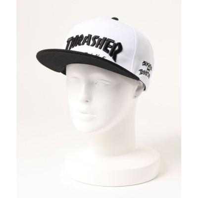 THRASHER by RIFFLEPAGE / MAG LOGO SNAP BACK CAP 平ツバ キャップ/スラッシャー帽子(キャップ) MEN 帽子 > キャップ