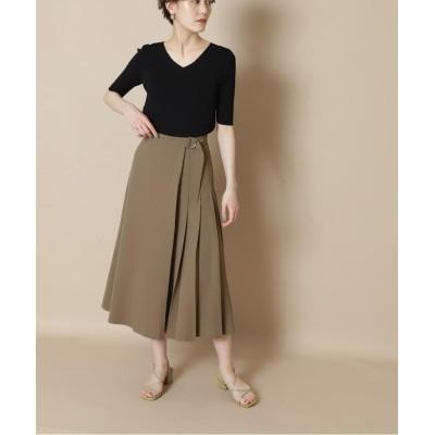 【エヌナチュラルビューティベーシック】 サイドプリーツフレアスカート《S Size Line》 レディース ブラウン S N.Natural Beauty Basic