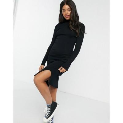 ジェイディーワイ JDY レディース ワンピース ミドル丈 ワンピース・ドレス Knitted Midi Dress ブラック