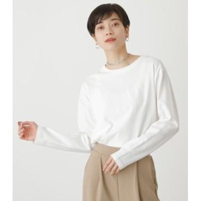 【40%OFF】 【5月17日まで期間限定価格】SIMPLE ROUND HEM L/S TEE/シンプルラウンドヘムロングスリーブTシャツ WOMENSレディース
