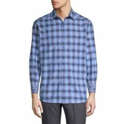 ロバートグラハム メンズ カジュアル ボタンダウンシャツ Plaid Cotton Button-Down Shirt