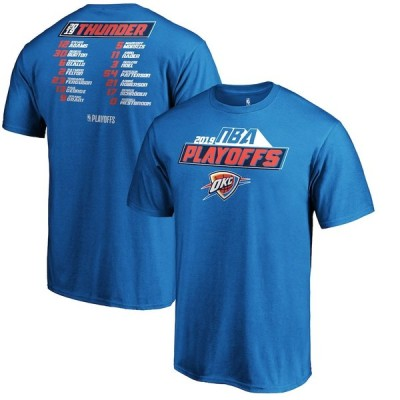 """ファナティックス メンズ Tシャツ """"Oklahoma City Thunder"""" Fanatics Branded 2019 NBA Playoffs Bound Game Tradition Roster T-Shirt - Blue"""