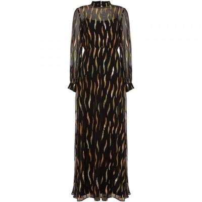 フェイズ エイト Phase Eight レディース パーティードレス マキシ丈 ワンピース・ドレス Penny Shimmer Silk Maxi Dress Black