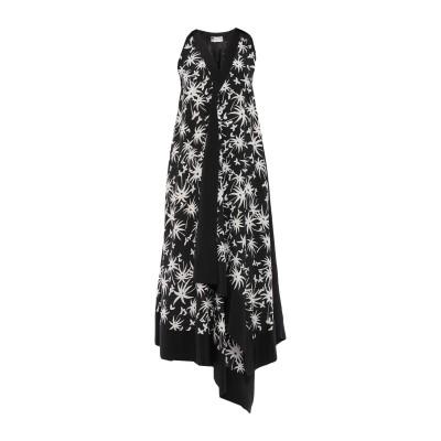 ランバン LANVIN 7分丈ワンピース・ドレス ブラック 38 シルク 100% 7分丈ワンピース・ドレス