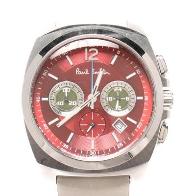 ポールスミス 腕時計 0520-T001519 TA クオーツ レッド メンズ  PAUL SMITH 中古