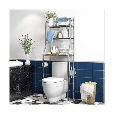 AKOZLIN トイレ収納ラック 3段式 トイレブラケット トイレ 棚 トイレラック トイレ用品 タオル トイレットペーパー 収納 インテリ