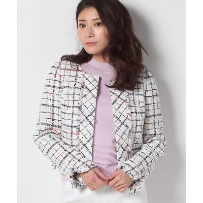 <MISS J(Women)/ミスジェイ> クラレンソンツイード ジャケット シロ【三越伊勢丹/公式】