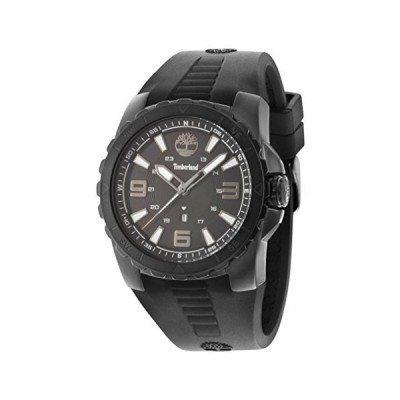 Timberland Men's TBL.94471AEU/02PA Quartz Watch with Black Dial Analogue Display and Silicone Strap 並行輸入品