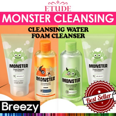 BREEZY ★ [ETUDE HOUSE]★★ New item★Monster Cleansing Line / Cleansing Water / Foam Cleanser / Cotton