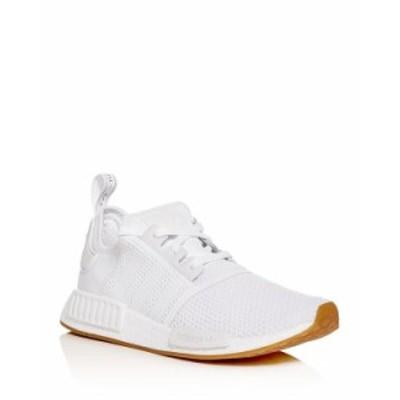 アディダス メンズ スニーカー シューズ Men's NMD R1 Knit Low-Top Sneakers White