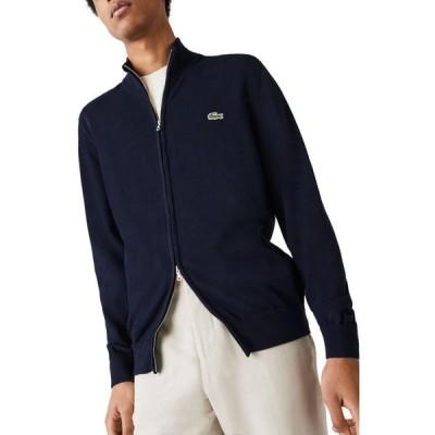 ラコステ LACOSTE メンズ ジャケット アウター Two Way Zip Jacket Navy Blue