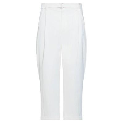 SYSTEM パンツ ホワイト 52 レーヨン 57% / コットン 41% / ポリウレタン 2% / ポリエステル パンツ